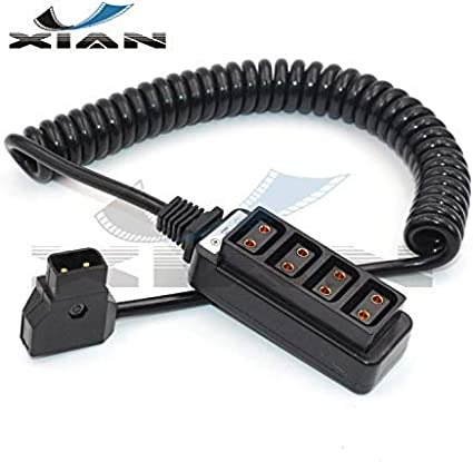 YXIAN P-Tap Splitter Cable,D-Tap to 4-Port Female D-Tap P-Tap Hub Adapter Splitter for Photography Power