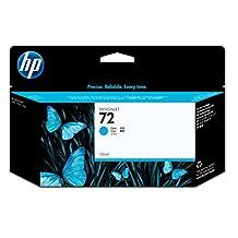 HP 72 Cyan Ink Cartridge -Cyan -Inkjet -1 Each