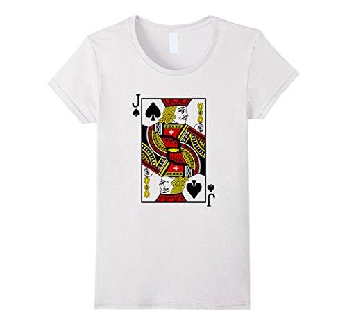 Women's Jack of Spades Playing Card T-Shirt Medium (Jack Of Spades Costume)