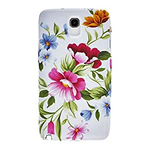 Red Flowers and Green Leaves Pattern Silicone Gel Soft Back Case Cover for Samsung Galaxy Note 3