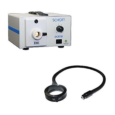 Schott A20800 DCR III Fiber Optic Light Source Illuminator with Ringlight BUNDLE