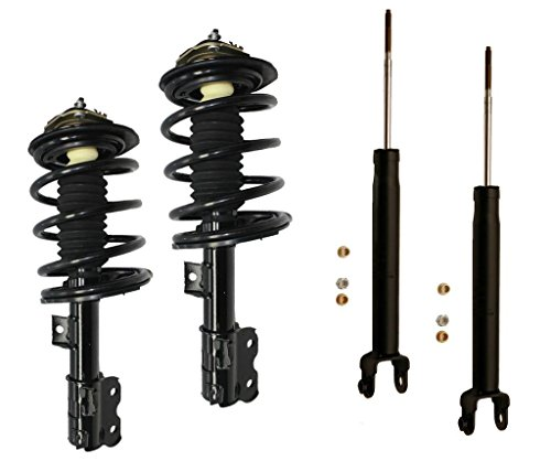 DTA 70024AX Full Set 2 Front Complete Strut Assemblies With Springs and Mounts + 2 Rear Shocks 4-pc Set Fit 2004-2008 Nissan Maxima