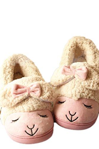 MiYang Women's Sheep Warm Plush Soft Sole Indoor Slipper