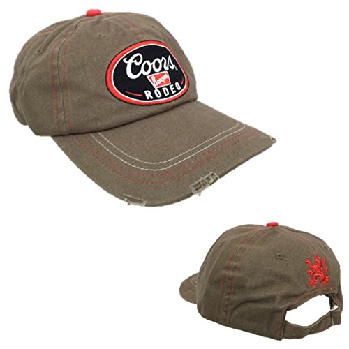 coors-rodeo-brand-cotton-brown-baseball-hat-cap-one-size