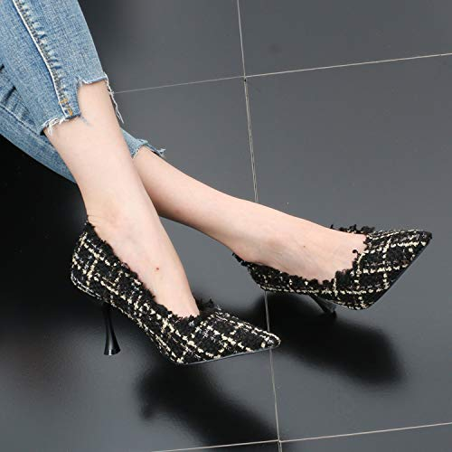 Mouth Autumn Fashion With Pointed gules Cloth Wedding SFSYDDY Sharp Shoes Shoes Fine Wild Women'S EqwxEztR