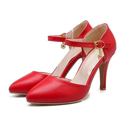 Femmes Cheville Bride Coolcept Escarpins 76 Chaussures Rouge dH1xTz8