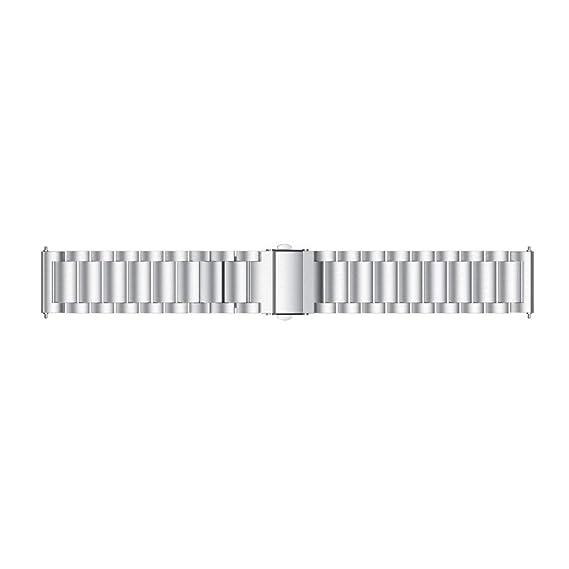 Modaworld _Correa de reloj de Acero Inoxidable con Cierre de Metal para HUAMI Amazfit Stratos 2 Band Correas de Reloj Inteligente Pulseras de Repuesto ...