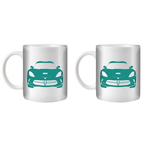 stuff4-tea-coffee-mug-cup-350ml-2-pack-turquoise-viper-gts-white-ceramic-st10