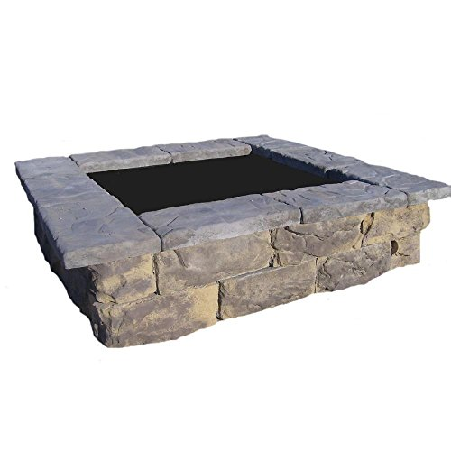 60 in. Fossil Limestone Square Concrete Planter by Natural Concrete Products Co