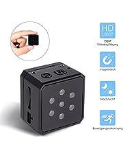Hueliv Versteckte Kamera,Tragbare Spion Kamera Full HD 1080p Überwachungskamera Mini,Loop Aufnahme, Hohe Batterieleistung,16GB Micro SD Karte Enthalten,Plug and Play am PC und Mac