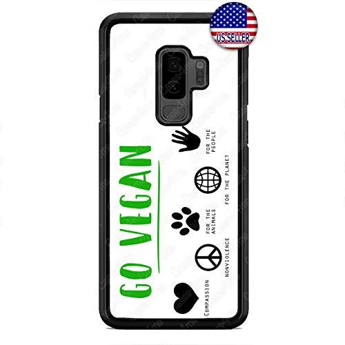 Go Vegan Phone Case Vegetarian Capsule Hard Custom Case Cover for Samsung Galaxy S10e S10 S10 Plus S9 S9 Plus S8 S8 Plus