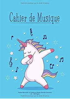 Cahier De Musique Papier Manuscrit 12 Portées A4 108 Pages