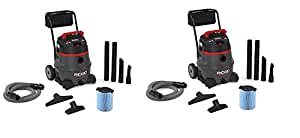 Ridgid 50348RID 50348 1400RV Wet/Dry Vacuum with Cart, 14 gal, Red (Pack of 2)