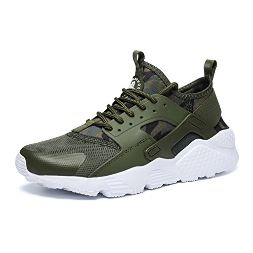 Unisex Label Army Running Sneakers Sport Trainers Breathable Jogging up 46 Shoes fereshte Lace Green Casual pwxaSdOqO