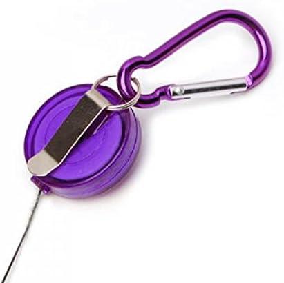 5PCS retrattile badge Reel penna clip da cintura e moschettone - inchiostro colore casuale