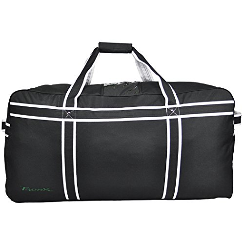 TronX Pro Travel Hockey Equipment Bag (Black) (Best Hockey Equipment Bag)