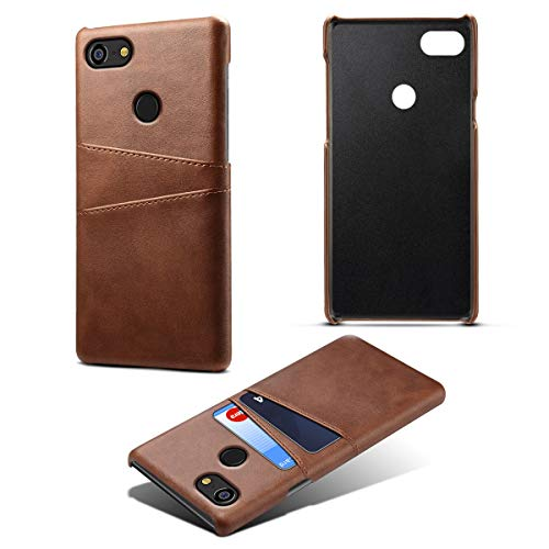 Google Pixel 3 XL Case, Torubia Wallet Case, Space Premium PU Leather Case Cover with Card Slots Compatible with Google Pixel 3 XL - Dark Brown