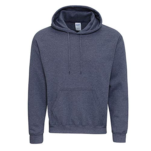 Gildan Heavy Blend Adult Unisex Hooded Sweatshirt/Hoodie (L, Heather Sport Dark Navy)
