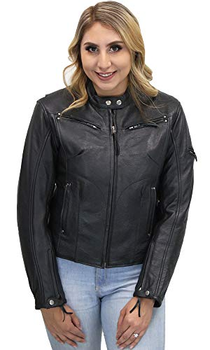 Athena Ladies Sleek Vented Scooter Jacket Black