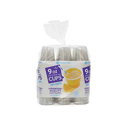 An Item of Member's Mark Clear Plastic Cups (9 oz, 264 ct.) - Pack of 1 - Bulk -