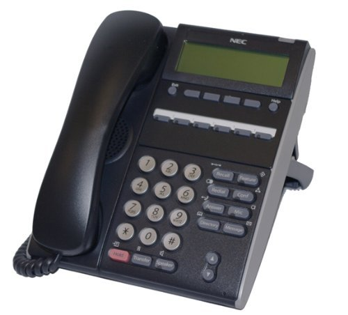 NEC DTL-6DE-1 (BK) - DT300 - 6 Button Display Digital Phone Black (6 Telephone Button Display)
