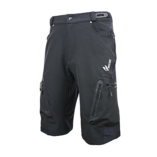 Arsuxeo MTB Cycling Shorts Men Downhill Outdoor Sports Clothing (L (CN) / M (US), Black)
