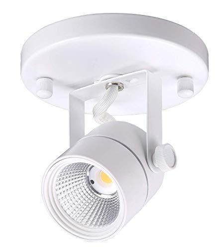 Flush Lighting Track Mount (Cloudy Bay LED Flush Mount Track Light Head,CRI90+ 5000K Day Light Dimmable,Adjustable Tilt Angle Track Lighting Fixture,8W 40° Beam Angle,White Finish)