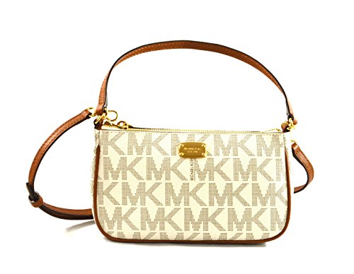 Michael Kors Jet Set Medium Convertible Pouchette - White Orange Michael Bag And Kors
