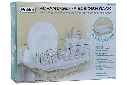 Polder KTH-615 Advantage Dish Rack, White