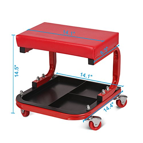 Excelvan tas1403 mechanics creeper seat auto u rolling for Auto p garage roussillon