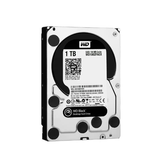 WD Black Desktop Hard Drive: 3.5 Inch, 7200 RPM, SATA III, 64 MB Cache 1 WD Black high performance 3.5-Inch SATA hard drives combine 7200 RPM spin speed, 64 MB cache, and SATA 6 Gb/s interface for the ultimate in power computing. High performance electronics architecture features dual processors and bigger, faster caches for maximum read and write speeds. StableTrac  The motor shaft is secured at both ends to reduce system-induced vibration and stabilize platters for accurate tracking, during read and write operations.