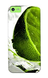 Crooningrose Brand New Defender Case For Iphone 5c (water Citrus Fruits Limes Splashes ) / Christmas's Gift