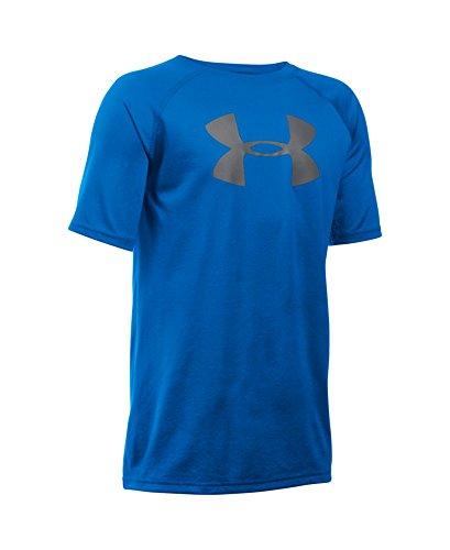 Under Armour Boys' Tech Big Logo T-Shirt, Ultra Blue (907), Youth Large