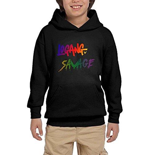 Lodakinss Logan Paul Sweatshirt Mens Maverick Logo Men's Custom Long Sleeve Hooded Sweatshirt S Black