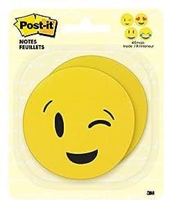Post-it Notes Emoji Shapes, 2.9 in x 2.9 in, 2 Pads per pack, 30 sheets per pad, 4 emojis (BC-2030-EMOJI)