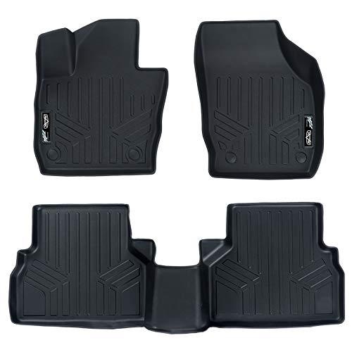 SMARTLINER Custom Fit Floor Mats 2 Row Liner Set Black for 2015-2018 Audi Q3 - All Models