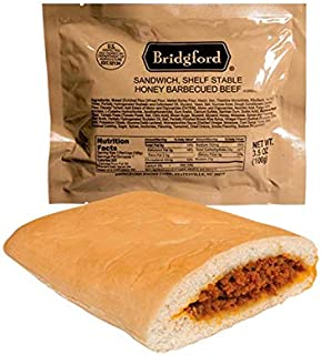 product image for Bridgford Honey BBQ Beef - MRE Survival Food Storage Ready To Eat Meals - 3 Pack …