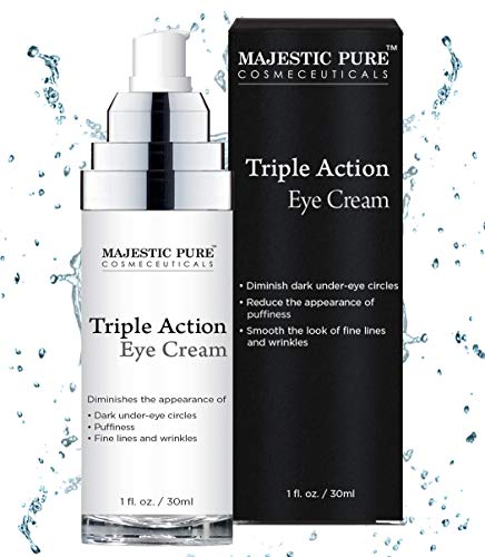 Eye Cream for Appearance of Under Eye Dark Circles, Puffiness, Fine Lines and Wrinkles - Triple Action Formula Soothes and Rejuvenates with Arnica and Vitamin K - 1 fl. oz. -