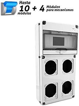 Caja estanca para automáticos y mecanismos 10 + 4 módulos: Amazon.es: Bricolaje y herramientas