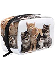 Toiletry Bag Campus Cats Womens Beauty Makeup Case Brush Cosmetic Organizer