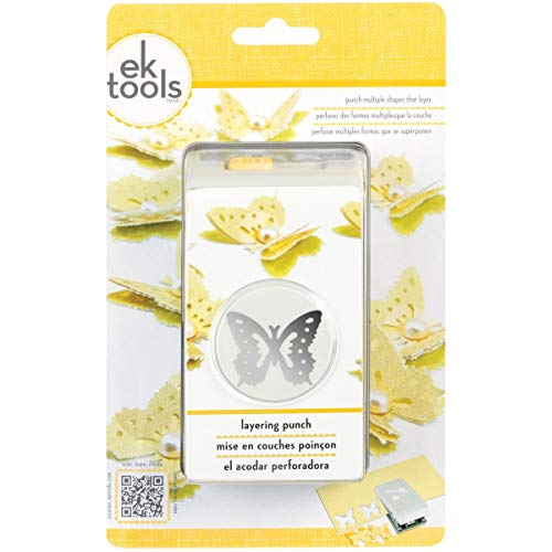 EK Tools Layering Paper Punch, Butterfly, New Package