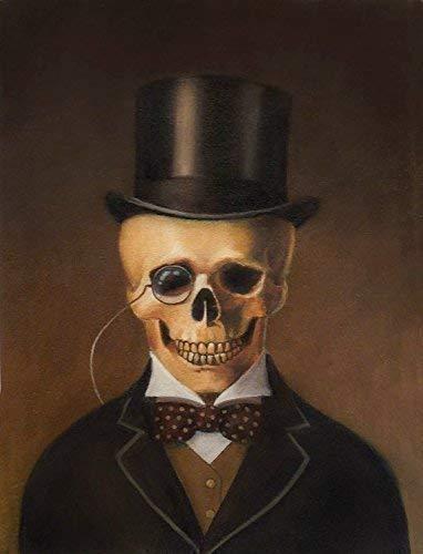 Skeleton Print - Gothic Skull Art - Victorian Portrait- Gentleman Skeleton Portrait - Victorian Skull - Steampunk - Halloween - Spooky]()