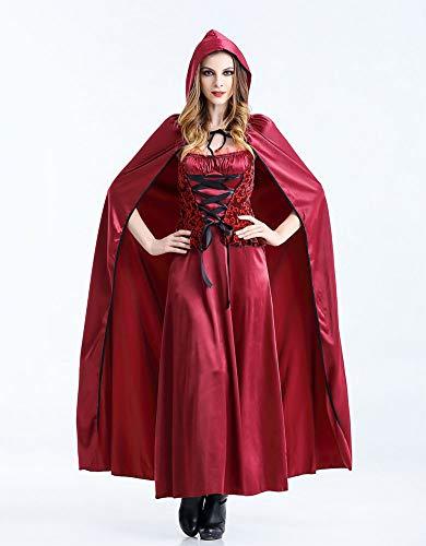 GYH Rollenspiel Spielen Party Erwachsene Rotkäppchen Kleid Halloween Weihnachten Kostüm Cosplay ZxBZ6n7