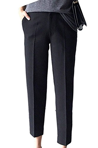 In Sottile Monocromobusiness Elegante Elastico Tempo Chic Libero Verde Pantaloni Dritti Screenes Casuale Lunga Con Moda Donna Vita 7ZBnRzxw