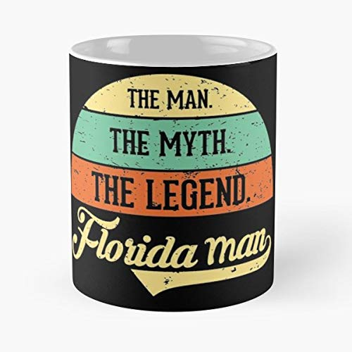 Florida Man Floridaman Jokes Alligators Funny Christmas Day Mug Gifts Ideas For Mom - Great Ceramic Coffee Tea Cup