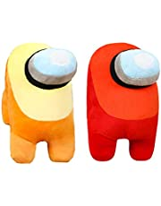 Among Us Plush | 2 Pack | Red+Yellow 7.8inch/20cm Stuff Animal Plushies Toys,Cute Soft Plush Among Us Plush Stuffed Animals Among Us Game Plush Toy Plushie Doll Gifts for Kids Birthday Christmas Xmas Gift (2 Pack Red+yellow)