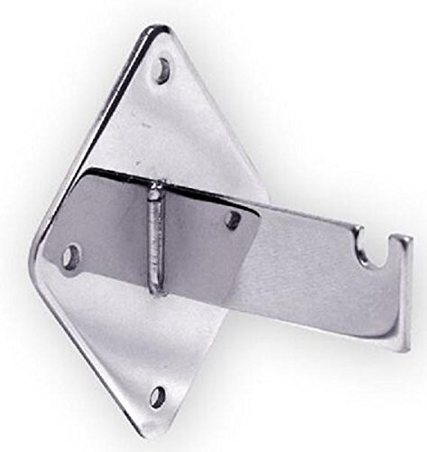 Gridwall Heavy Duty Wall Mount Brackets for Grid Panels - 12 Pcs - Choose Black, White or Chrome color