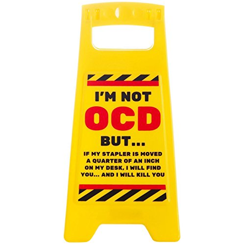 Boxer Funny Joke OCD Desk Warning Sign