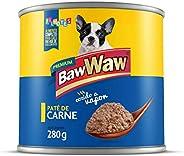 Patê Baw Waw para cães filhotes sabor Carne 280g