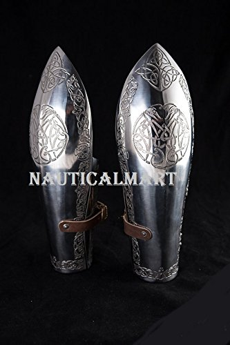 MEDIEVAL MEN BRACER WITH CELTIC ETCHING BY NAUTICALMART